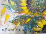 «Подсолнухи». Художник Ellen ORRO. Холст на картоне/акрил. 25х25, 2019 г. фото 5