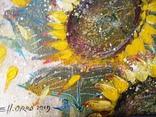 «Подсолнухи». Художник Ellen ORRO. Холст на картоне/акрил. 25х25, 2019 г. фото 9