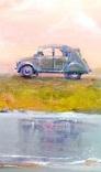 «Волны.Вечер.». Серия «Авто»  холст на картоне/акрил. 40х40, 2019 г. фото 3
