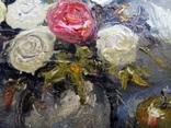 «Красная роза» холст на картоне/масло 15х15 2018 г. фото 5