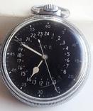 Навигационный военно-морской хронометр Hamilton G.C.T, с 24-часовой индикацией 1970 года, фото №3