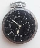 Навигационный военно-морской хронометр Hamilton G.C.T, с 24-часовой индикацией 1970 года, фото №4