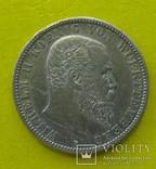 2 марки, 1904 год, Вюртемберг,, фото №2