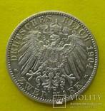 2 марки, 1904 год, Вюртемберг,, фото №3