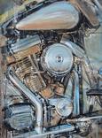 """""""Harley-Davidson"""" холст/акрил   60х80 1999 г"""