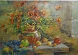 «Яблоки и бархатцы» холст/акрил 50х35 2008