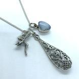 Подвески 3шт на цепочке серебро, фото №2