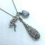 Подвески 3шт на цепочке серебро, фото №3