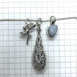 Подвески 3шт на цепочке серебро, фото №5
