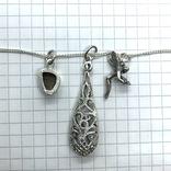 Подвески 3шт на цепочке серебро, фото №6