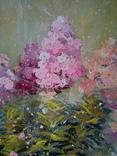 «Розовые флоксы» двп/акрил   68х60 2020 фото 2