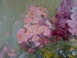 «Розовые флоксы» двп/акрил   68х60 2020 фото 4