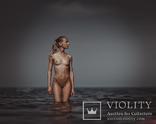 Блондинка в море, когда в море штиль., фото №2