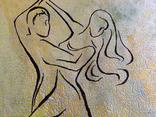 Картина, Танок у сонячнім промінні, 35х35 см. Живопис на полотні, фото №4