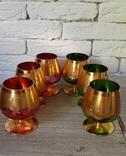Фужеры цветное стекло, Bohemiа,70-е. 6 штук, фото №5