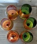 Фужеры цветное стекло, Bohemiа,70-е. 6 штук, фото №6
