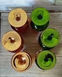 Фужеры цветное стекло, Bohemiа,70-е. 6 штук, фото №7