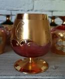 Фужеры цветное стекло, Bohemiа,70-е. 6 штук, фото №11