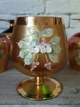 Фужеры цветное стекло, Bohemiа,70-е. 6 штук, фото №12