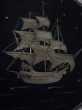 Панно декоративное из соломки '' фрегат, фото №5