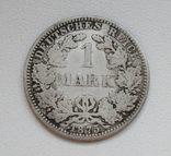 1 марка 1875 г. (А), Германия, серебро, фото №2