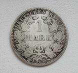 1 марка 1875 г. (А), Германия, серебро, фото №3