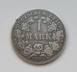 1 марка 1885 г. (А), Германия, серебро, фото №2