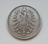 1 марка 1885 г. (А), Германия, серебро, фото №5
