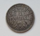 1 марка 1876 г. (J), Германия, серебро, фото №2
