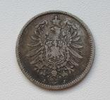 1 марка 1876 г. (J), Германия, серебро, фото №6