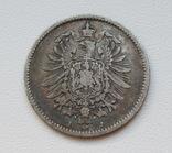 1 марка 1876 г. (J), Германия, серебро, фото №8
