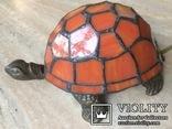 Фигурка- светильник Черепаха, стиль Тиффани., фото №2