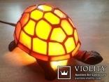 Фигурка- светильник Черепаха, стиль Тиффани., фото №3