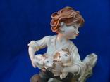 Композиция Мальчик забирает щенков клейма Германия, фото №6