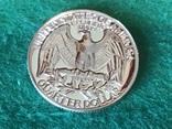 25 центов сша 1964 года. Серебро, фото №2