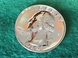 25 центов сша 1964 года. Серебро, фото №3