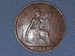 Великобритания 1 пенни 1966 года, фото №2