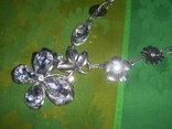 Колье из хрустального стекла и металла в виде бабочки, фото №4