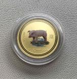 Год Свиньи 2007 год Австралия 50 $ золото 1/2 унции 9999', фото №2