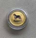Год Собаки Австралия 2006 год 15$ 1/10 унции 9999' золото, фото №2