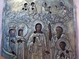 """Икона """"Покров Пресвятой Богородицы"""". Серебряный оклад, фото №3"""