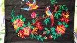 Старинная вышитая картина Райские птицы, фото №3