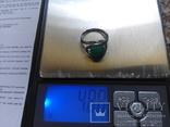 Серебро гарнитур кольцо серьги с зеленой бирюзой, фото №10