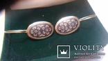 Сережки срібні СССР 3.47г, фото №3