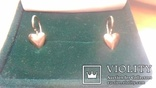 Сережки срібні з позолотою 1957 р., фото №2