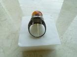 Старовинний перстень р.18 з королівським бурштином. Скань., фото №7