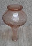 Флакон для духов ,розовое стекло, фото №8