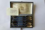 Чайные ложечки, набор, 875й пробы до 1958го года, фото №2