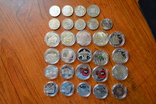 Набір пам'ятних монет різних років (29 монет), фото №8