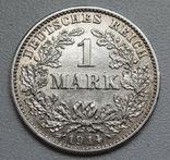1 марка 1914 г. (G), Германия, серебро, фото №3